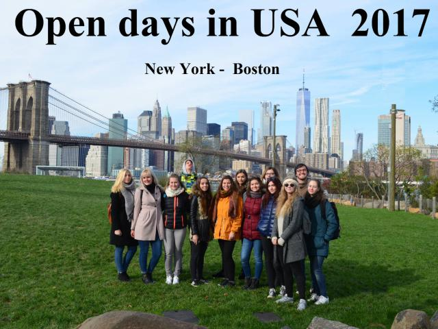 Open Days in USA 2017
