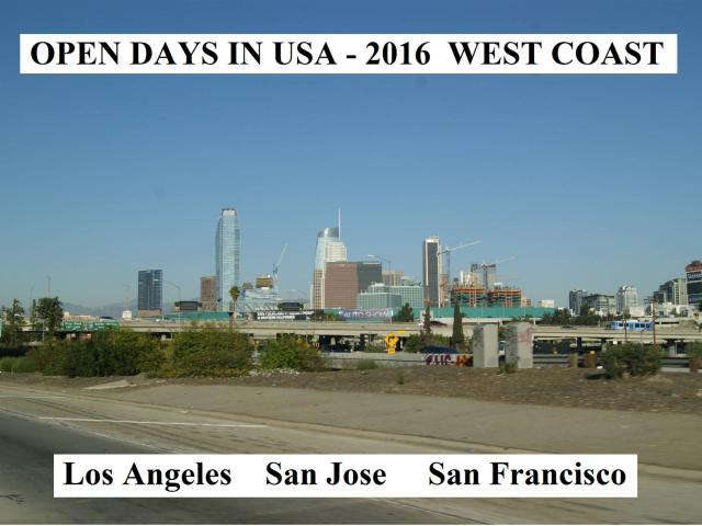 Open Days in USA 2016 West Coast
