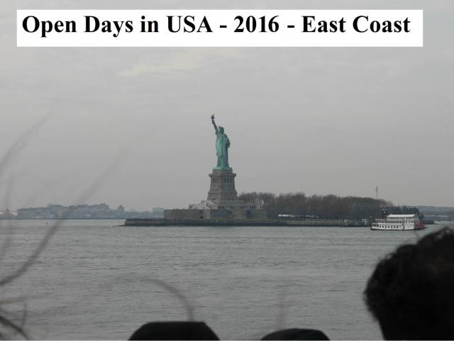 Open Days in USA 2016 East Coast